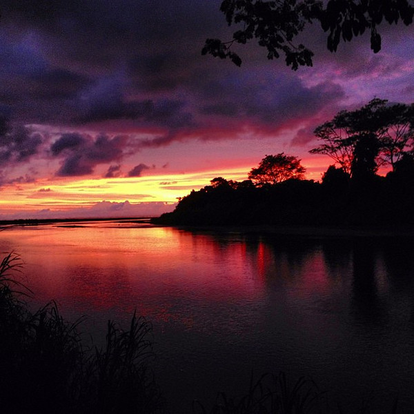 One of the more phenomenal sunsets I've been treated to. Taken at the mouth of Rio Baru -- Dominical, Costa Rica.