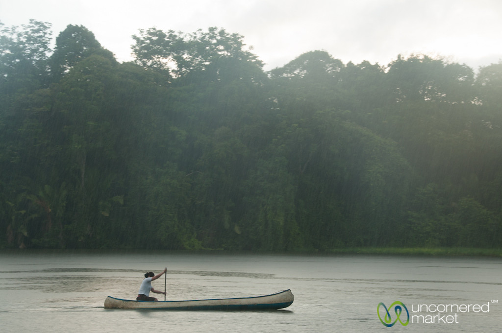 Morning Canoe Ride in Rain - Tortuguero, Costa Rica