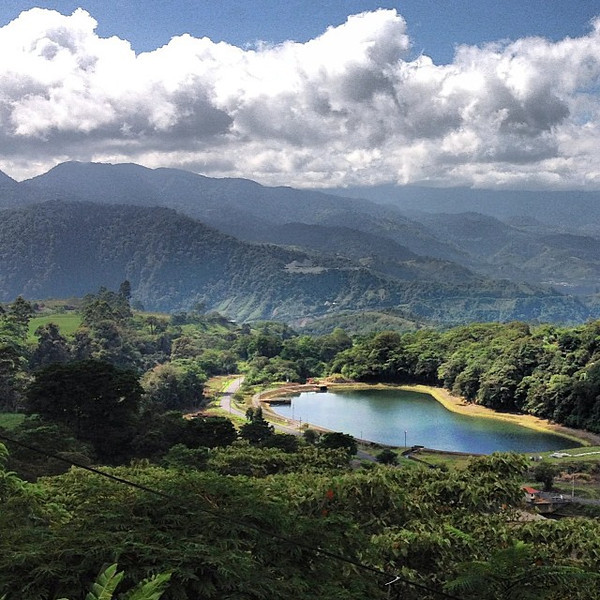 A view from our morning dose of gallo pinto. En route from Cartago to Turrialba, Costa Rica.