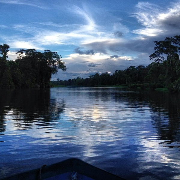 Sunset cruising the Tortuguero canals, a bit of Caribbean Costa Rica pura vida.