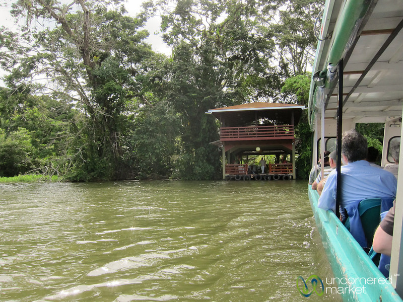Boat Pulls Into Evergreen Lodge, Tortuguero - Costa Rica