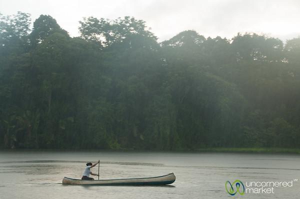 Morning Canoe Ride in Rain - Tortuguero, Costa Rica