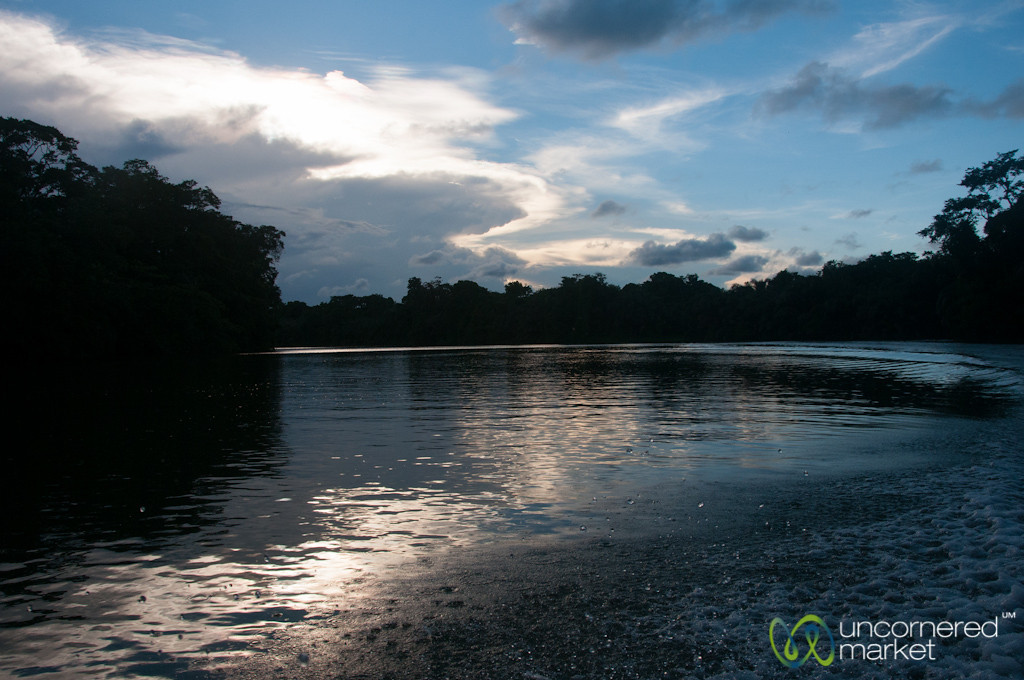 Sunset on Laguna Tortuguero - Costa Rica