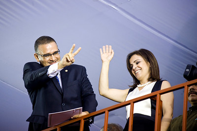 President Mauricio Funes and First Lady Vanda Pignato.