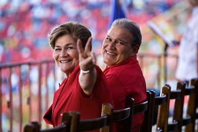 Margarita and her husband Vice President Salvador Sanchez Ceren (Commander Leonel González).