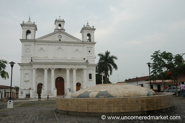 Main Square of Suchitoto - El Salvador
