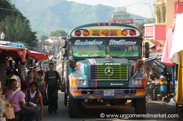 Bus on a Crowded Street - Santa Ana, El Salvador