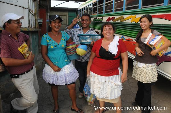 Bus Vendors - Santa Ana, El Salvador