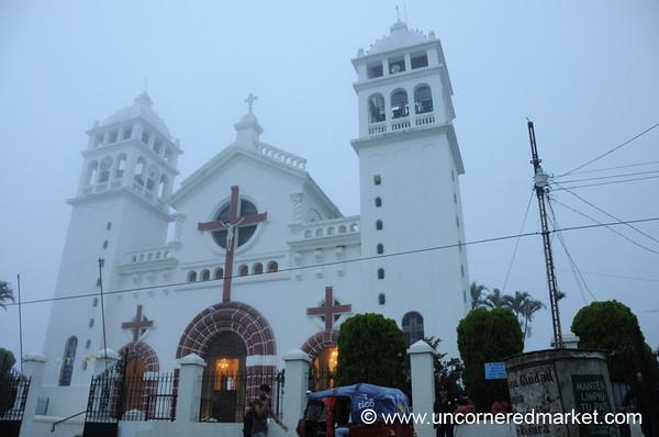 Cathedral and the Late Afternoon Fog - Juayua, El Salvador in Juayua