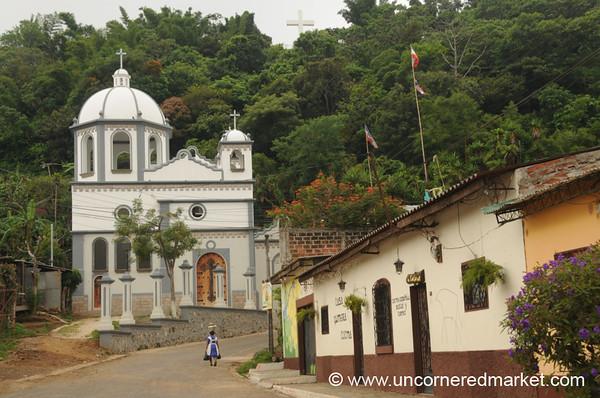 Church at the End of the Street - Ruta de las Flores, El Salvador