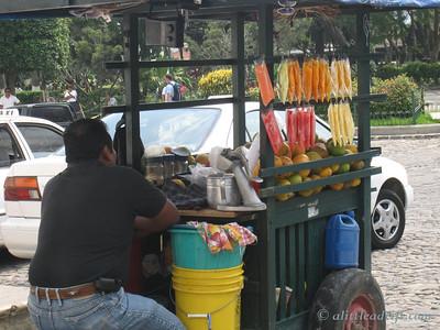 Fruit Vendor in Antigua