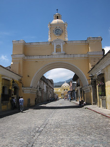 Brightly Colored City Arch