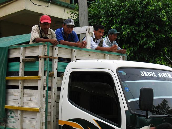 Men in Car Lanquin