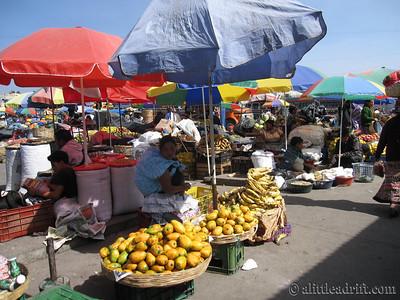 Xela's Central Market Fruit Vendors