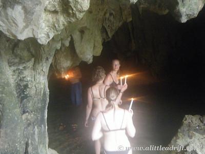 Entering the dark caves