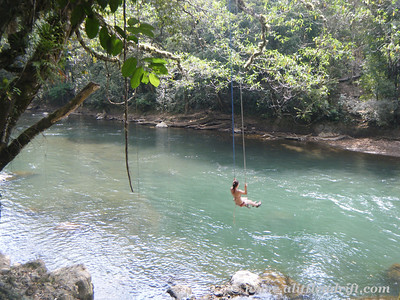 Swing Jumping Near Semuc Champey