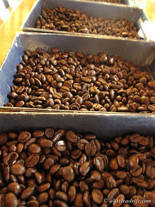Three Types of Roasted Coffee Beans