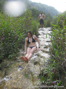 Sliding Down Waterfalls