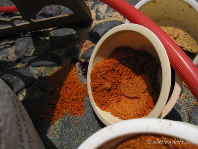Pot of Colored Sawdust for Holy Week