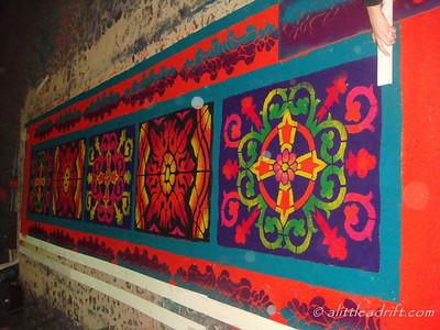 Elaborate Semana Santa Carpet