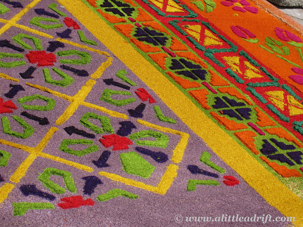 geometric carpet patterns semana santa
