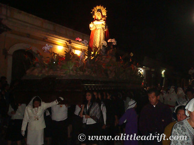 Mary in the Procession