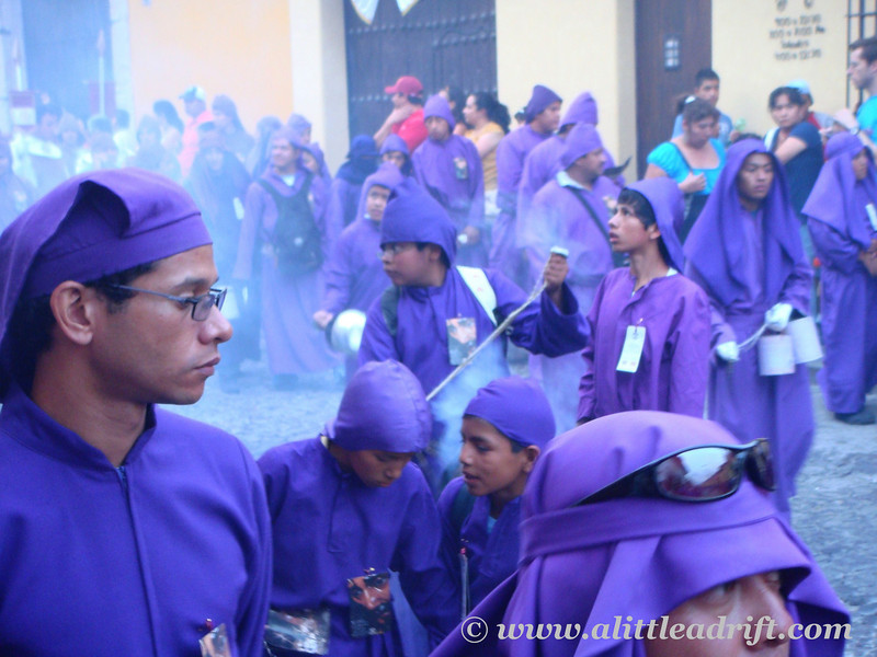 incense spread by the cucuruchos along the procession route
