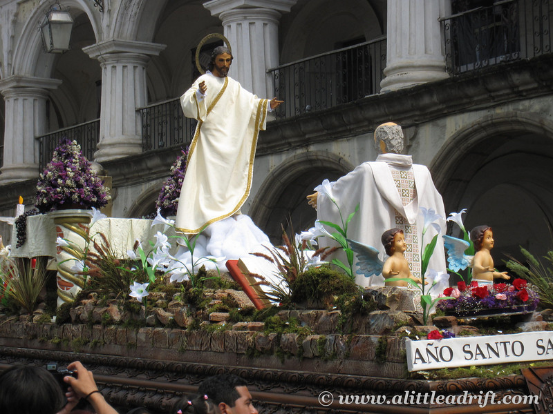 Easter Sunday float and procession