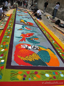 Huge Parrot Carpet