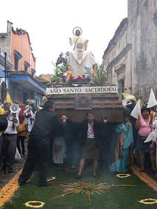 Semana Santa Procession and Carpet