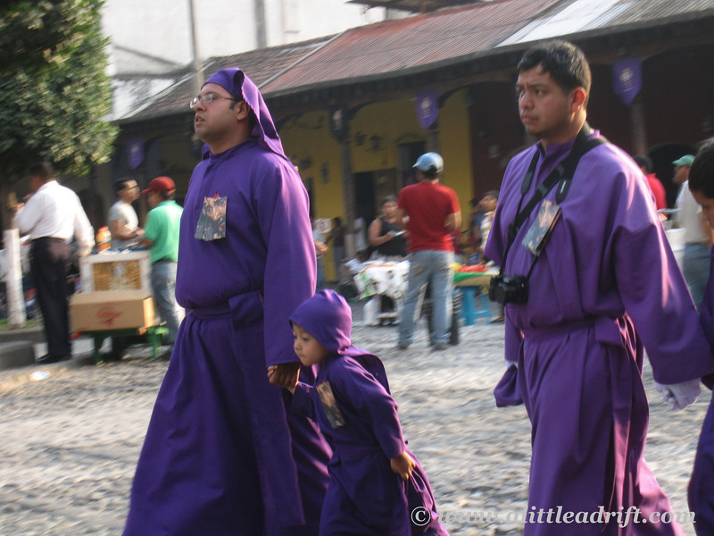 cucuruchos during Semana Santa