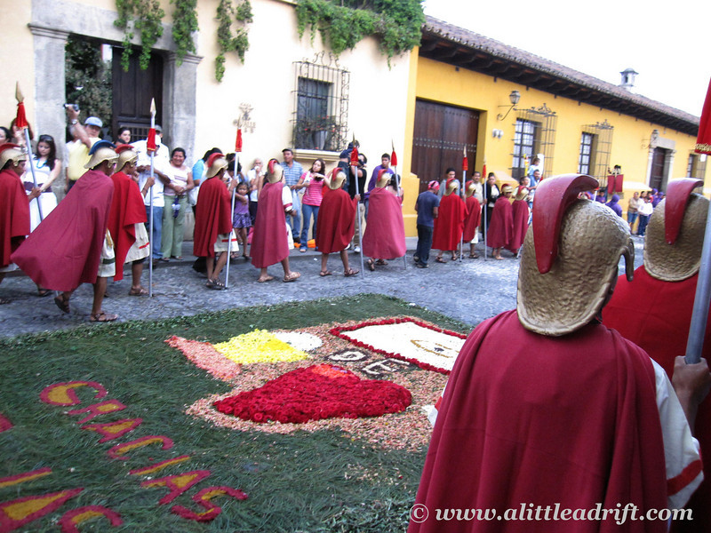 romans in the processional route