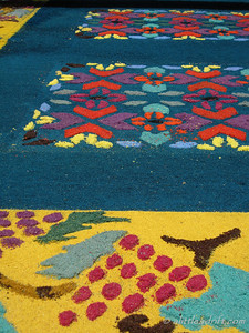 Huge Semana Santa Sawdust Carpet