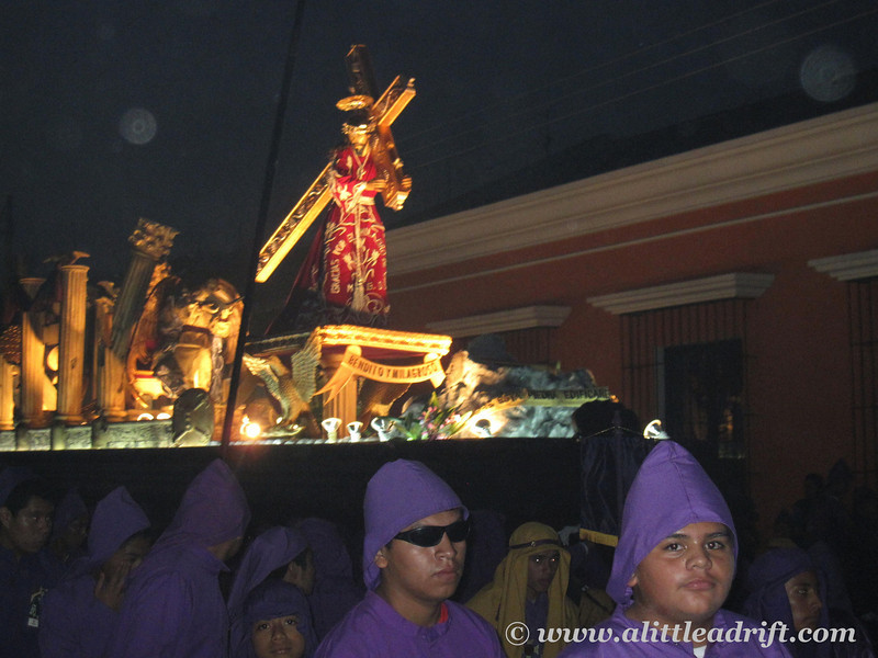 Float of Christ carrying his cross to his crucifixion