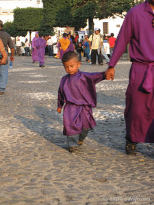 Little Boy in His Purple Robes