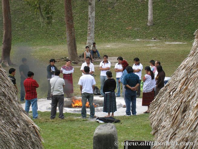 Mayan Ceremony at Tikal
