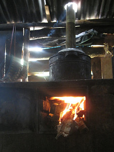 Finished and In-Use Stove