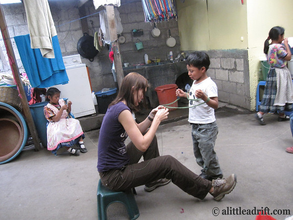 Working on a Project with the Kids outside of Xela, Guatemala