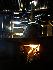 One of the stoves in use that was built by volunteers outside of Xela, Guatemala.
