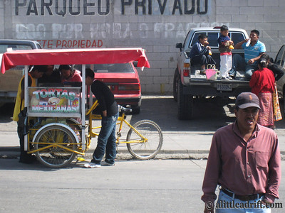 Street vendor in Guatemala