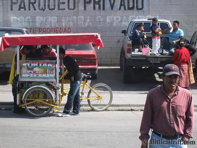 Street vendor in Guatemala