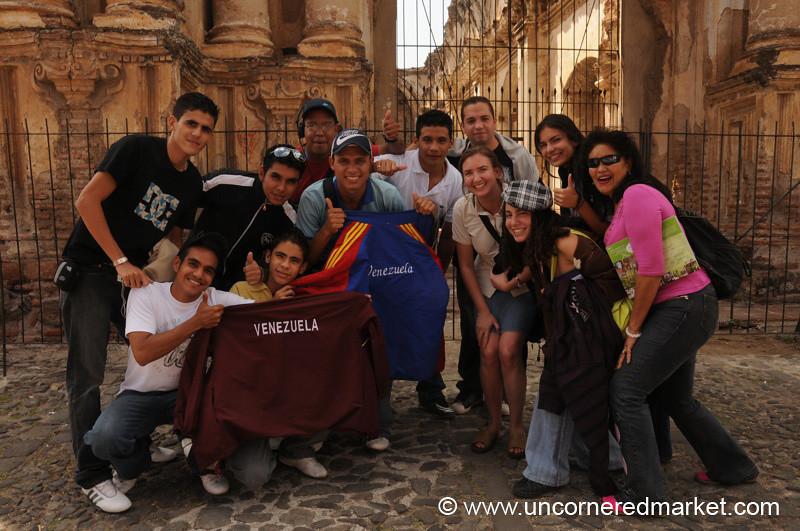 Venezuelan Tourists in Antigua, Guatemala