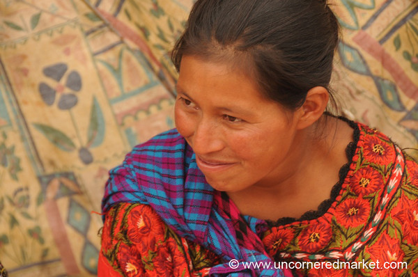 Indigenous Woman at Antigua Market, Guatemala