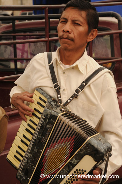 Guatemalan Accordion Player - Antigua, Guatemala