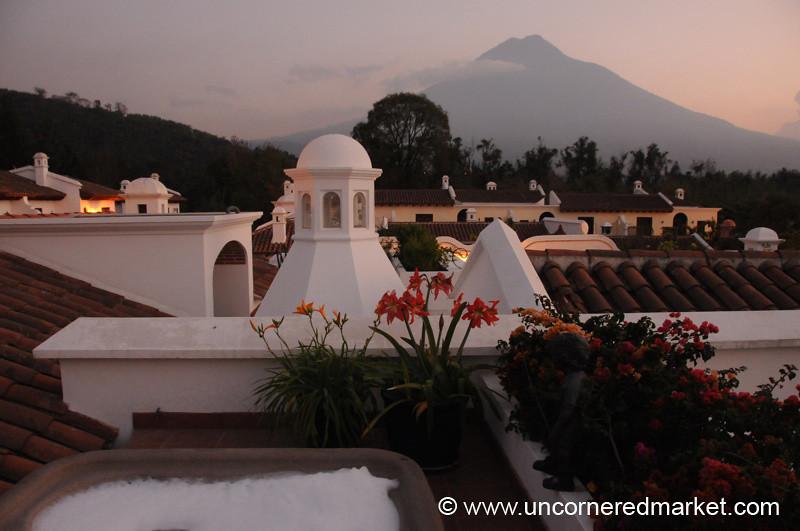 Jacuzzi and Agua Volcano - Antigua, Guatemala