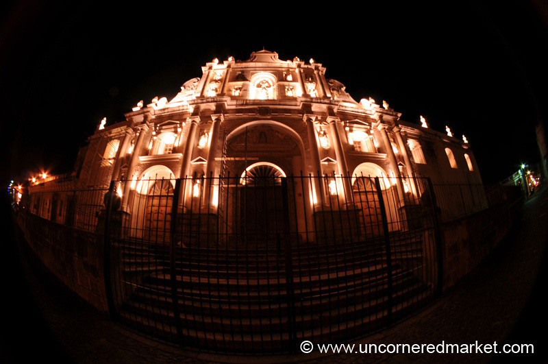 San Jose Cathedral at Night - Antigua, Guatemala
