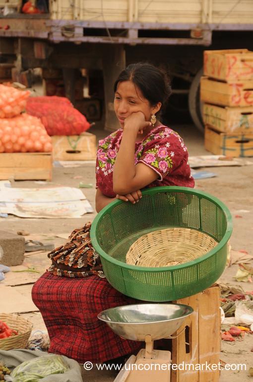 Indigenous Woman at the Market - Antigua, Guatemala
