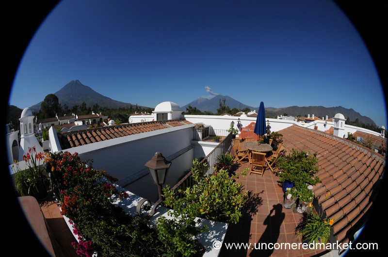 Volcanoes Near Antigua, Guatemala