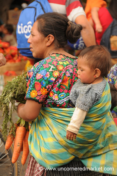 Guatemalan Mother and Baby - Antigua, Guatemala