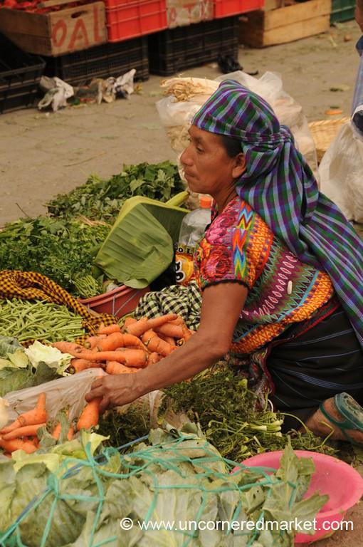Indigenous Market Vendor - Antigua, Guatemala